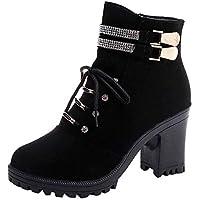 WWricotta Damen Schuhe Stiefeletten Chelsea Boots mit Blockabsatz Profilsohle Kurzschaft Stiefel Freizeitschuhe... preisvergleich bei billige-tabletten.eu