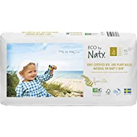 Eco by Naty Premium Disposable Diapers for Sensitive Skin, Size 4, 7 to 18 kg, Pack of 2, 88-Count