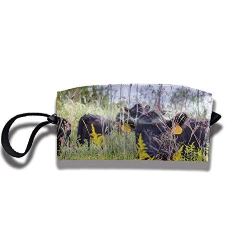 Bison Herd in Field Stationery Receive Bag/Soft Zipper Bag -