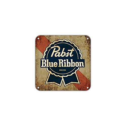 Eugene49Mor Pabst Blue Ribbon Bier Vintage Retro Metall Wand Decor Art Shop Man Cave Bar Garage Aluminium 30,5x 30,5cm Schild (Zeichen World Peace)