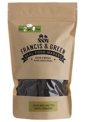 Francis & Green - Thé Noir BIO de Darjeeling en vrac, 170g