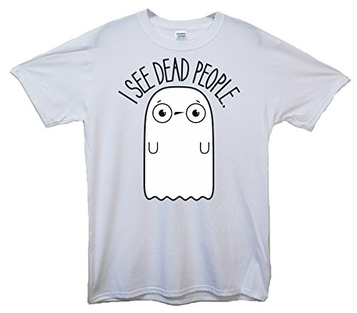 Ghost I See Dead People Cute T-Shirt - Weiß - X-Large (117cm-122cm)