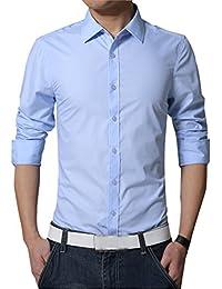 uomo Abbigliamento it Amazon azzurra camicia Abbigliamento specifico qpUwwnBtcF