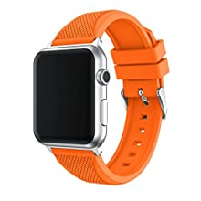 TOPsic Compatible iWatch Strap 38mm/40mm/42mm/44mm, Silicone Band for iWatch Series 5/4/3/2/1
