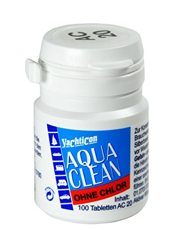 YACHTICON Aqua Clean AC 20 ohne Chlor 100 Tabletten für 2000 Liter