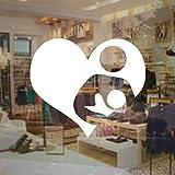 JXCDNB Freundliche Stillen Aufkleber Es Business Vinyl Shop Aufkleber Raum Zeichen Für Öffentliche Stillen Billig Wandbilder 57x49 cm