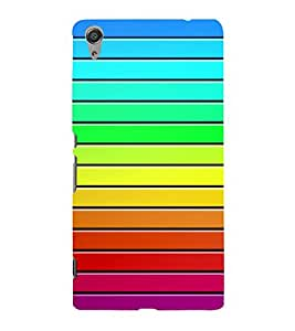 PrintVisa Stripes Pattern 3D Hard Polycarbonate Designer Back Case Cover for Sony Xperia C6