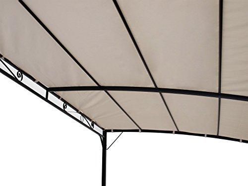 DEGAMO Anbaupavillon MANTOVA 300x250cm, Stahlgestell + Dach wasserdicht ecru