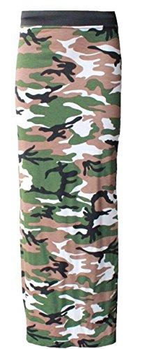 Generic - Jupe - Évasée - Femme Multicolore Bigarré Taille Unique Vert - Camouflage