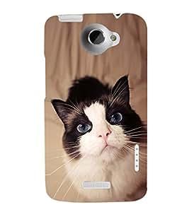 EPICCASE innocent cat Mobile Back Case Cover For HTC One X (Designer Case)