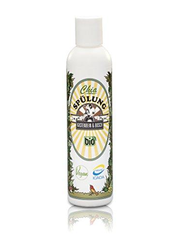 Chia Double Débit/Après-shampoing cheveux avec huile d'argan 100% naturelle – Bio, vegan, glycérine sans & sans paraben – Soins des cheveux pour jardinière de beanspruchtes et cheveux secs – 200 ml de jambes & Bosch