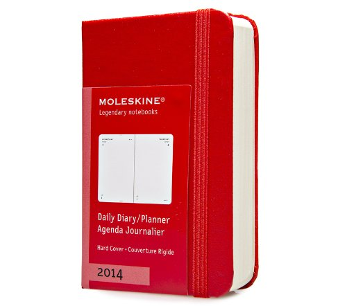 Moleskine Extra Small 12 Months 2014 Daily Diary - Red (Moleskine Diaries) por Moleskine