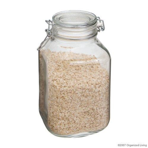 ück Fido Einmachglas Glas Verriegelung Deckel Canning Jar Ölkanister Italian-2Liter ()