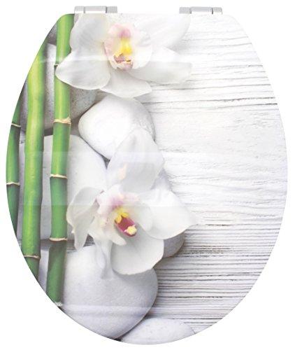 Sanwood 6098937 WC-Sitz SPA Glossy Art mit hochglänzender Oberfläche, Reversed-Edge-Form und Absenkautomatik Soft Close
