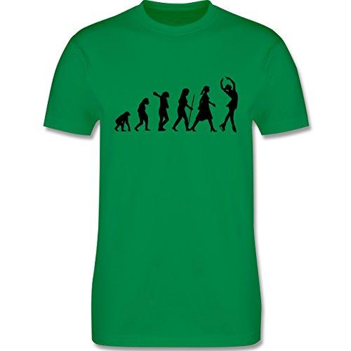 Evolution - Eisläuferin Evolution - Herren Premium T-Shirt Grün