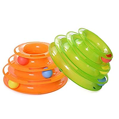 Kisspet kitty turnnel three-tier intelligent toy dish funny cat toys