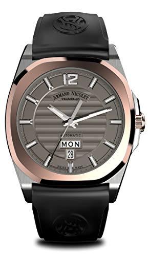 Armand Nicolet Hombre Reloj de Pulsera J09Day & Date con 18KT Oro Bisel Fecha Día de la Semana analógico automático d650aaa de gr de gg4710N