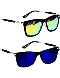 Younky Unisex Combo Pack Of UV Protected Branded Wayfarer Stylish Blue Mercury Sunglasses For Men Women Boys And... - B0776JSSCC