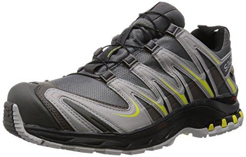 Salomon L37931500, Zapatillas de Trail Running para Hombre, Gris (Autobahn /      Aluminium /      Corona Yellow), 42 EU