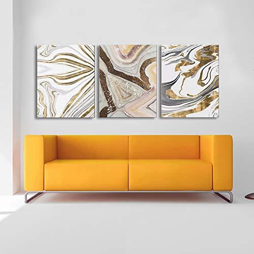 40 Zeitgenössische Leinwand (3 Stücke Panel Schön Fließende Abstrakt Kunst Drucken Leinwand Malerei Modernen Familie Wand Dekoration Triptychon Gemälde,NoFrame,40x50cm)