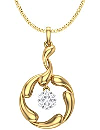 Clara Silvo 18K Gold Plated Sterling Silver Ava Pendant With Chain For Women