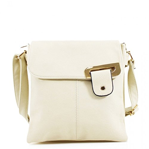 Other, Borsa a tracolla donna Multicolore Multicolor medium Beige - Gold