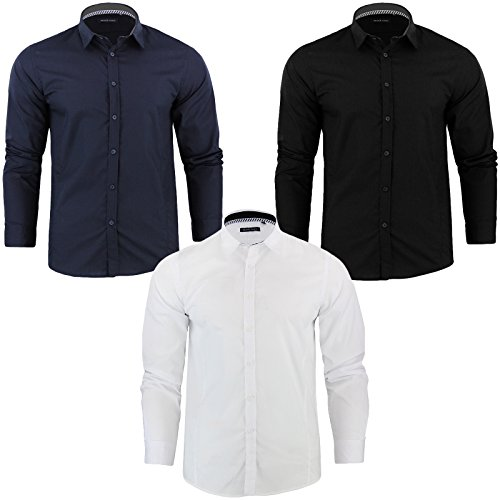 Mens Brave Soul Charlie Designer Shirt Long Sleeved Button Up Collared Top