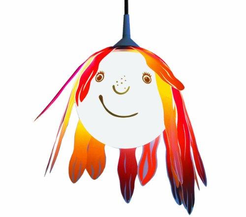 Niermann Standby 143 Pendelleuchte freches Mädchen, Durchmesser der Kugel = 20 cm, 1 x E27 - max. 60 Watt, inklusiv Leuchtmittel, Made in Germany