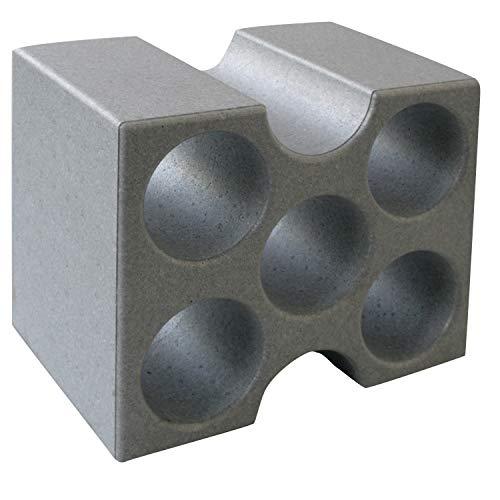 CLIMAPOR Flaschenbox Compact aus Styropor, grau - für 5 Flaschen max. Ø 9 cm, 1 Stück - 25 x 30,8 x 18,2 cm
