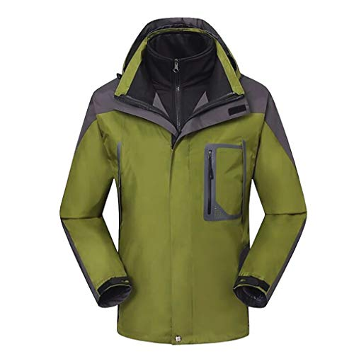Herren Jacket Air Jacket Winddichte wasserdichte MTB Mountainbike Jacket Visible reflektierend, Warm Jacket für Herbst, Winter Oversize