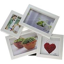 marco de fotos con 4 espacios hecha de plástico, marco de fotos para Collage personalizados