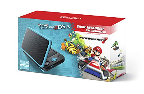 New Nintendo 2DS XL - Black + Turquoise With Mario Kart 7 Pre-installed - Nintendo 2DS (US Stecker) Black Jack-snap