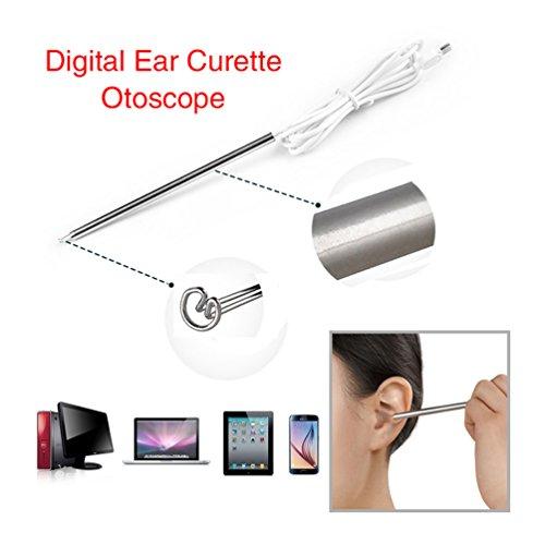 Supereyes, auriscopio digital para oreja, endoscopio, depilación de oído visual, cuidado de la salud de la familia para Android (procesador Qualcomm portátil), tableta, PC, otoscopio USB