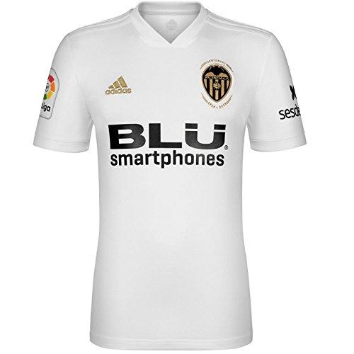 adidas VCF H JSY Y - Camiseta 1ª equipación Valencia CF, Niño, Blanco(Blanco)