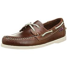 Sebago Docksides, Men Boat Shoes, Brown (Brown Oiled Waxy Lea), 6.5 UK (40 EU)