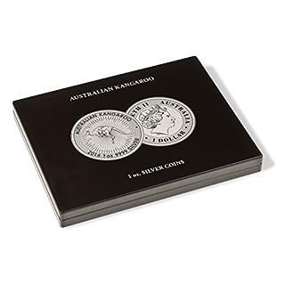 Leuchtturm 355190 VOLTERRA Münzkassette für 20 Australian Kangaroo Silbermünzen in Münz-Kapseln   1 OZ.   schwarz  