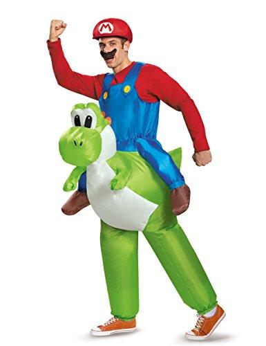 KULTFAKTOR GmbH Aufblasbares Nintendo Carry-Me-Kostüm Mario auf Yoshi Lizenzware...