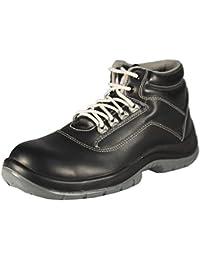 Groundwork Trabajo Guantes Para Hombres, con Punta de ACERO Para Calzado, Ultra Ligera, con Cordones, Color Negro, Talla 39.5