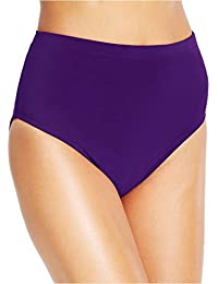 Miraclesuit Women's Swimsuit Basic High Waist Solid Pant Brief Bikini Bottom