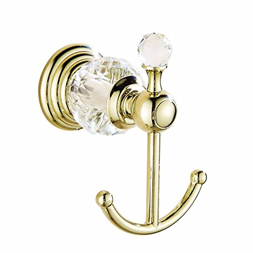 Airobin-accessorio per bagno in ottone dorato con base in cristallo dorato