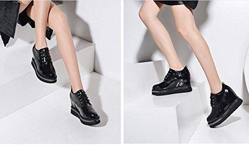 Au sein de l'augmentation des chaussures pour femmes avec des semelles épaisses de printemps de chaussures printemps chaussures casual nouvelles sauvages Black