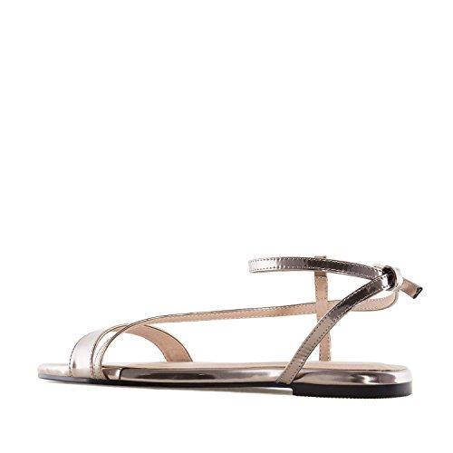 Andres Machado AM5234.Sandales Plates Soft.Pour Femmes.Grandes Pointures 42/45 Bronze