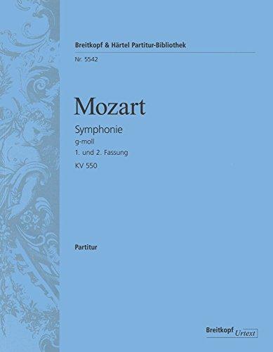 Symphonie g-moll KV 550, 1. und 2. Fassung. Dirigierpartitur (PB 5542)