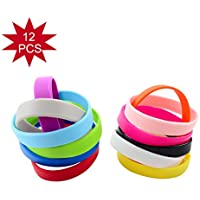 Green House-Wholesale 12pcs / set Colori Misti Blank Braccialetti Silicone Wristbands di Adulti, Braccialetti di Gomma - Party Favors