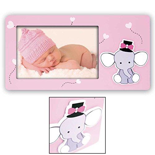 Cornice fotografica 10x15 babar con elefantino portafoto per bambini rosa