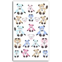 Téo et Zina Teddy Bear Teddy Bear Sticker Board, Felt, multi-coloured, 18.5x 9.5x 0.2cm