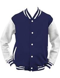ShirtInstyle College Jacke Jacket Retro Style XL,NavyWeiss