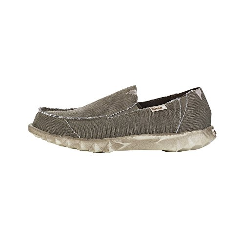 Hey Dude Farty M0354K - Herren Slipper aus Canvas - Leicht - Freizeit Brown