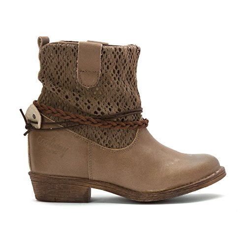 Classique Coolway Clea Cantine Femmes Bottine Cuir Taupe wn0POk8