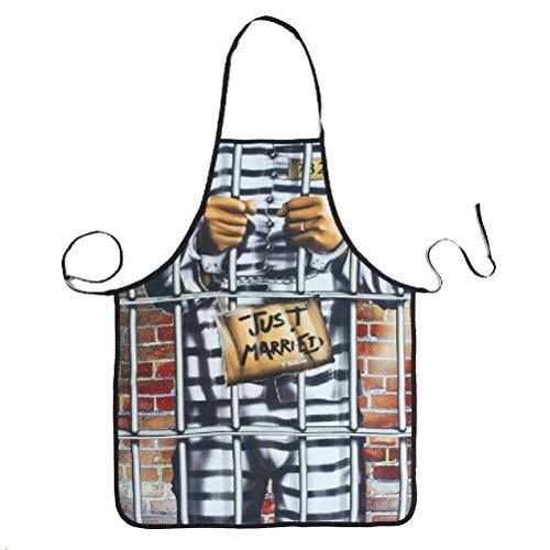 BESTONZON Lustige Küche Kochschürze Backschürze Grillschürze Grillschürze Party Kostüm für Männer Frauen - Männer Gefangener Kostüm